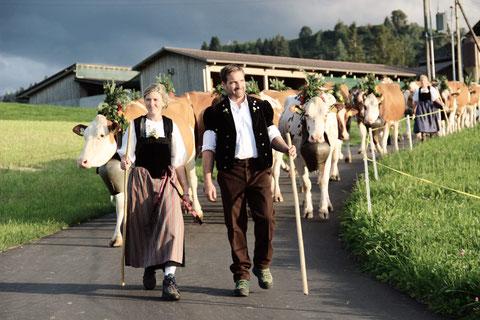 Alpabfahrt am Jodlertreffen in Eggiwil 07.09.2019