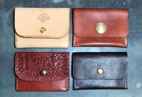 kleiner Geldbeutel pflanzlich gegerbtes Leder handgefertigt