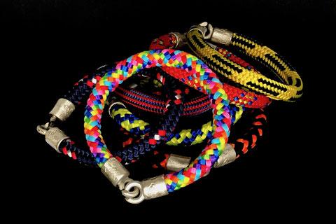 Bunte Farben Armbänder Kletterseil Tampen mit Silberverschluss