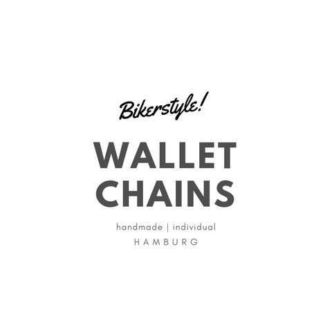 Bikerstyle wallet chains handmade in Hamburg