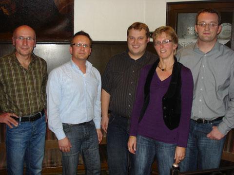 Der neue Vorstand: v.l. Hans Wantia, Dirk Saalmann (1. Vorsitzender); Frank ter Duis (Geschäftsführer); Giesela Röder (Kassiererin); Thomas Roring (stellv. Vorsitzender)