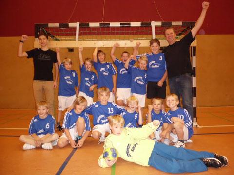 Die m.E. Jugend mit dem Trainergespann 2012/2013