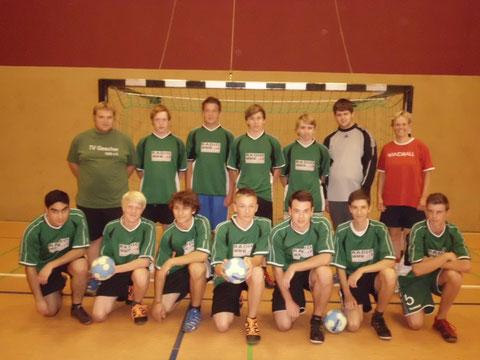 Die A-Jugend der Saison 2012/2013 mit dem Trainergespann
