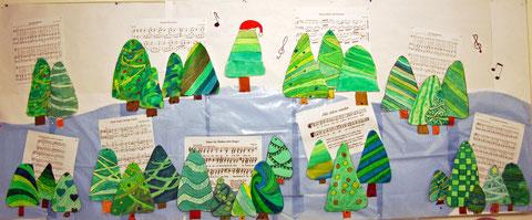 Grundschule Kunst Weihnachtsbild