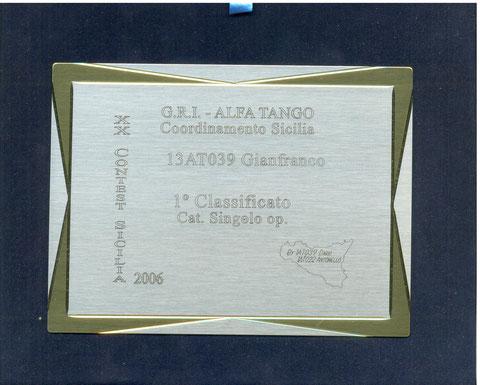 1 PLACE XX CONTEST SICILY 2006