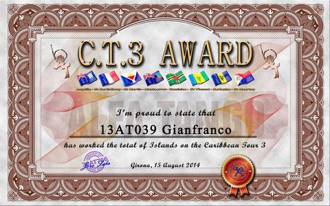 C.T.3 AWARD