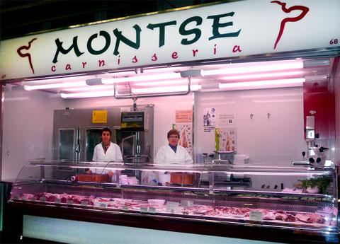Carnicería Montse, número 67-68 Mercado de la Independencia.