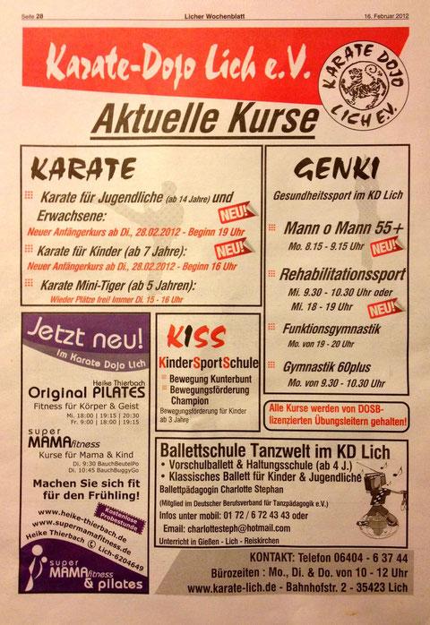 Licher Wochenblatt 16.02.2012