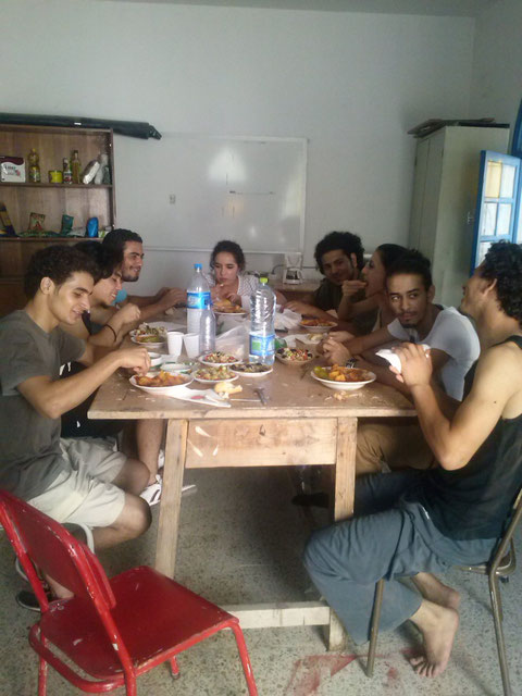 Cuisine en août 2013 pendant les répétitions