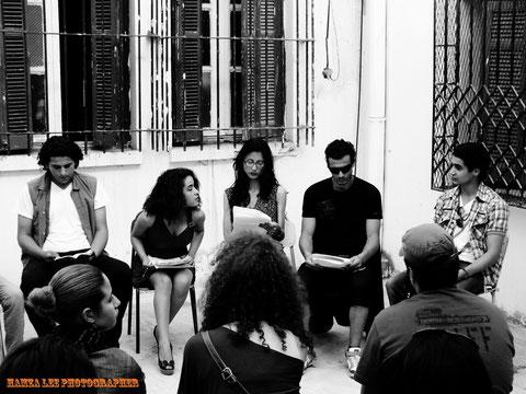 © Hamza Lee. Les acteurs-lecteurs.