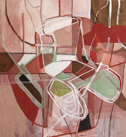 """Eva Hradil """"Schnittstellen"""" 2011 2013, Eitempera/HKG/LW, 140 x 130 cm"""