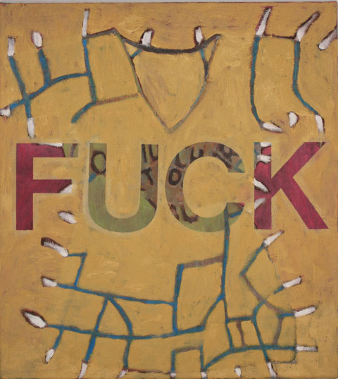 """Eva Hradil """"Fuck"""" 2016 Öl/LW 50 x 45 cm"""