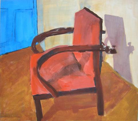 """Eva Hradil """"Die blaue Tür"""" 1997, Pigmente/Acrybinder/LW, 130 x 150 cm"""