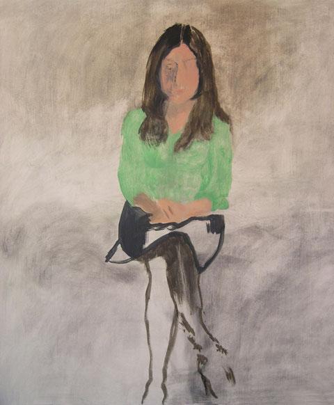"""Eva Hradil """"Betsabeh"""" 2004 Eitempera/LW, 140 x 130 cm, dieses Bild wurde zu Gunsten des Künstlerhauses versteigert"""