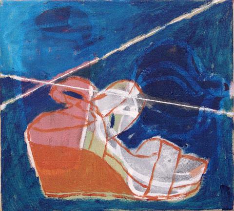 "Eva Hradil ""Schuh Schuh, nur Du allein"" 2011-2014, Öl/LW 30 x 33 cm"