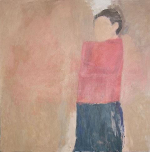 "Eva Hradil ""SP2003"" Öl und Eitempera/LW, 130 x 130 cm"