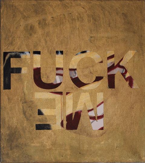 "Eva Hradil ""Fuck me"" 2015/2016, Eitempera/LW, 50 x 45 cm"