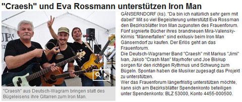 Artikel im Online Bezirksblatt Gänserndorf vom 26. August 2013