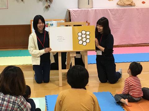 島根県立大学松江キャンパスの学生さんたちの活動風景です。