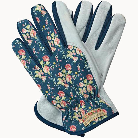 gants de jardinage cuir fleuris