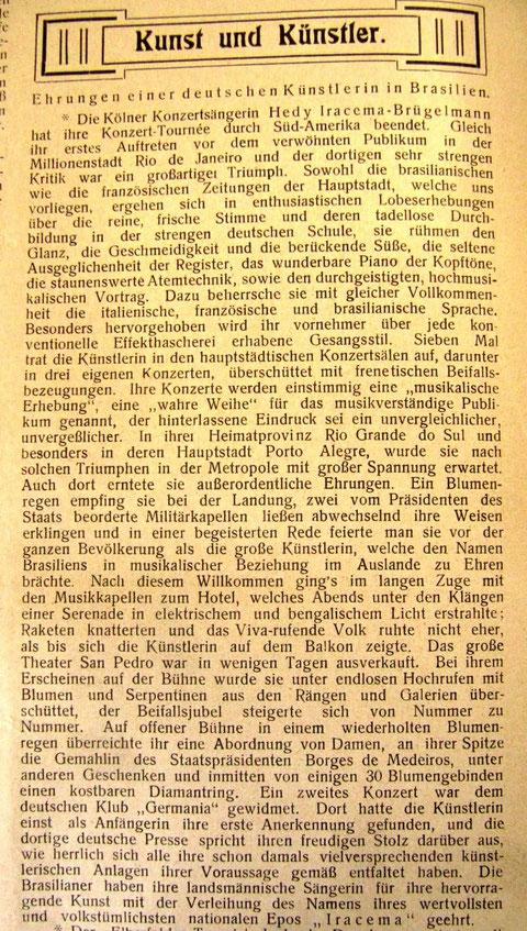 Rheinische Musik- und Theaterzeitung 1907 (Institut für Musikwissenschaft der Universität Köln)