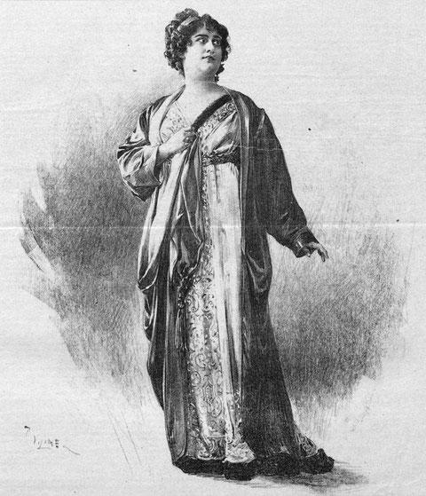 """Zeichnung von Hedy Brügelmann nach einer Fotografie (Aus: """"Der Humorist"""", 20. September 1917, Wien)"""