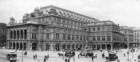 Wiener Hoftheater, ca. 1898, Architekten August Sicard von Sicardsburg und Edward von der Nüll, eröffnet 1869