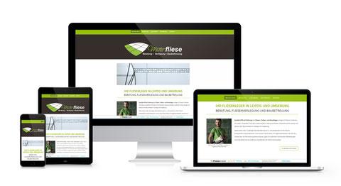 Responsives Webdesign, optimiert für Desktop, Tablet und  Smartphone