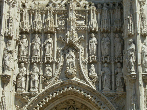 Arbre de Jessé, portail de l'église abbatiale de St Riquier