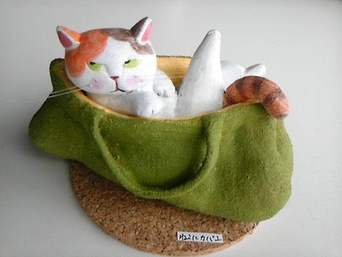 猫にかばん(小判)