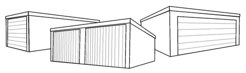 Turbo Fertiggaragen in Holzständerbauweise - Fertiggaragen in FD86