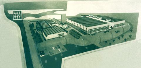 Flachrelief, Firma Adolff, Ehingen, 1957