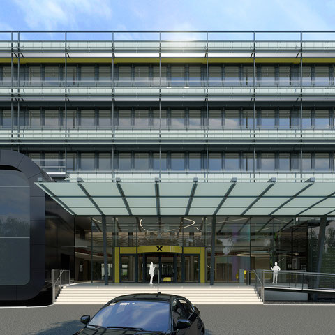 Renderings des RLB Multifunktionszentrum Raaba