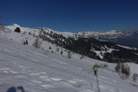 Skitour, Schweiz, Alvier, Südgrat, Südaufstieg