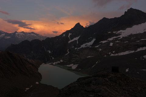 Hiendertelltihorn Ostgrat, Ostsporn, Zustieg, Abstieg, Touren Gruebenkessel, Gruebenhütte, Gruebeseewli
