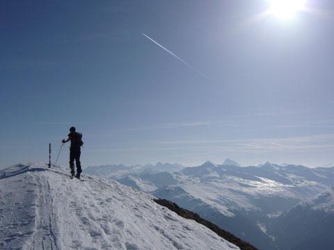Winterpanorama auf dem Gipfel