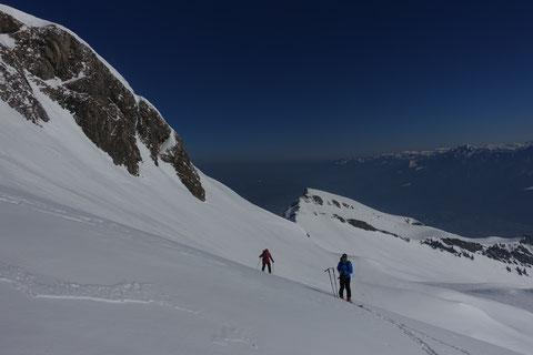 Skitour, Schweiz, Alvier, Rheintal, Südaufstieg, Südgrat