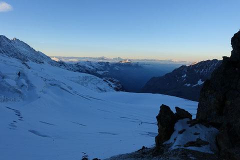 Hochtour, Dent d'Hérens, Glacier des Grandes Murailles
