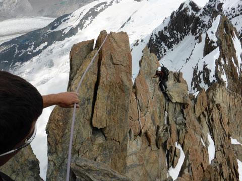 Breithorn Überschreitung Roccia Nera, Breithorn östlicher Zwilling, Breithorn westlicher Zwilling, Breithorn Mittelgipfel, Breithorn Westgipfel, Kletterstelle Breithorn Mittelgipfel