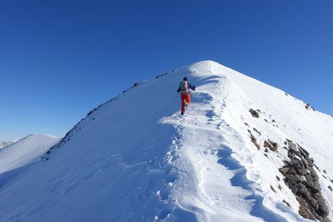 Mieserenstock, Skitour, Gipfelanstieg, Studen, Schwyz, Schweiz, Touren Zentralschweiz