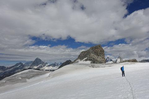 Mont Collon, SE-Sporn, Südostsporn, Eperon sudest, Arolla, Refuge des Bouquetins, Abstieg Normalweg, Westgrat