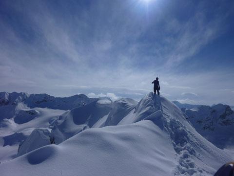 Gipfel, Chrachenhorn, Skitour, Davos, Monstein