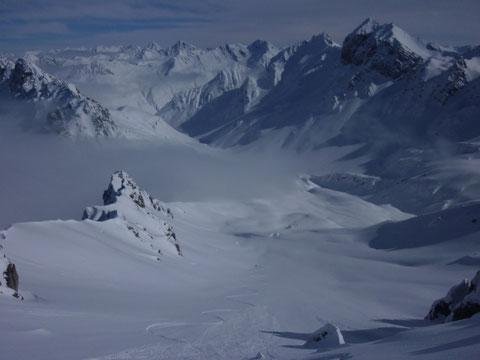 Nordwestabfahrt, Chrachenhorn, Davos, Monstein