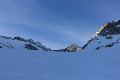 Skitour, Schweiz, Tiefenstock, Tiefensattel, Klettersteig, Galenstock, Chli Bielenhorn, Furka, Realp, Albert-Heim-Hütte, Hotel Tiefenbach, Tagestour, Tagesskitour, Tiefenstock an einem Tag, Gotthard, Andermatt