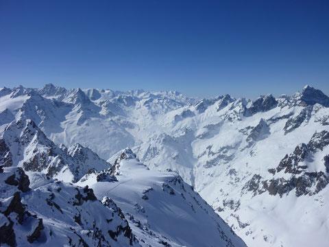 Skitour, Schweiz, Bächenstock, Meiental, Gotthard, Gipfelaussicht