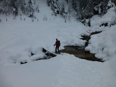 Skitour, Lauiberg, Sihltal, Lachen, Schweiz