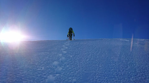 Skitour, Chli Spannort, Nordcouloir, Nordwand Couloir, Gipfelanstieg