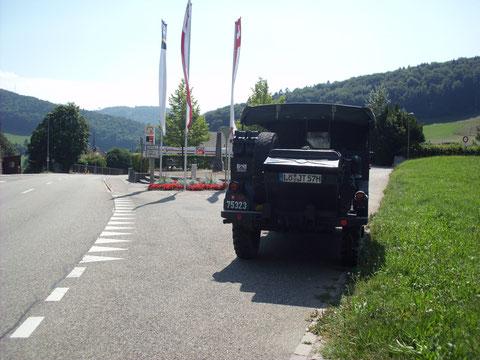 1. Pass war der Obere Hauenstein mit 734m - von dort gings hinunter ins Aaretal