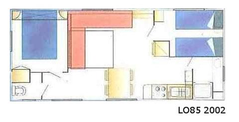 Mobil-homes 4/6 personnes (31 m²)- C & D
