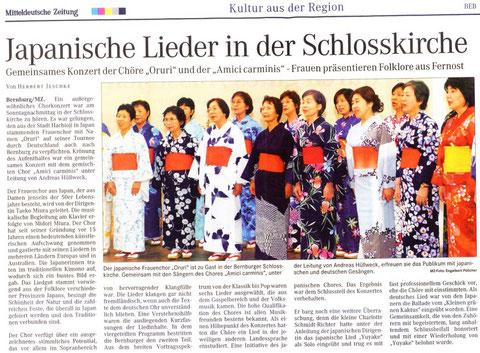 Mitteldeutsche Zeitung 24. Juni 2008